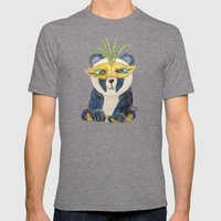 Panda Gras Mens Fitted Tee Tri-Grey SMALL