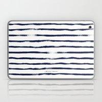 Thin Brush Stripe Indigo Laptop & iPad Skin