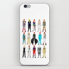 Outfits of Bowie Fashion on White iPhone & iPod Skin