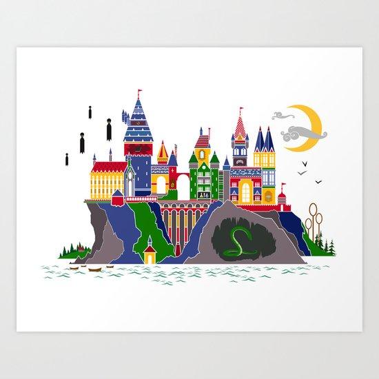 Pop Art Hogwarts Art Print By Chrisables Society6