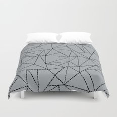 Ab Dotted Lines B on Grey Duvet Cover