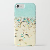 retro iPhone & iPod Cases featuring Coney Island Beach by Mina Teslaru
