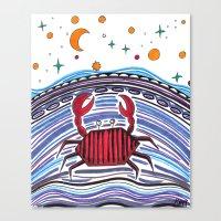 Crabby Crab Canvas Print