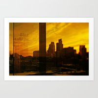 golden minneapolis Art Print