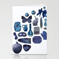 Stationery Cards featuring BLUE by Beth Hoeckel Collage…
