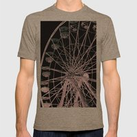FairyWheel Mens Fitted Tee Tri-Coffee SMALL
