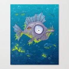 Zombie Fish Canvas Print
