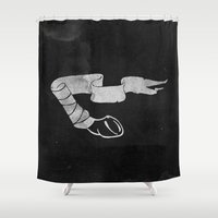 Leg Wrap Shower Curtain