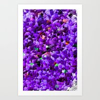 Crazy Purple Abstract Art Print