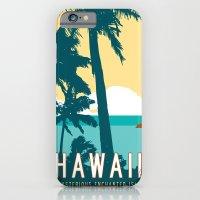 iPhone & iPod Case featuring Hawaii Travel Poster by Michael Jon Watt