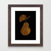Wooden Pear Framed Art Print