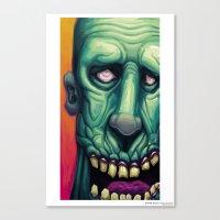 Zombie Blues Canvas Print