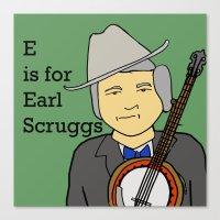 Earl Scruggs Canvas Print