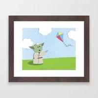 SW Kids - Yoda Kite Framed Art Print