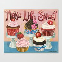 Make Life Sweet Canvas Print