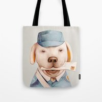 Delivery Dog Tote Bag