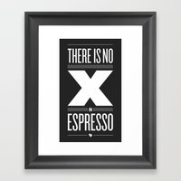 No X In Espresso – Dar… Framed Art Print