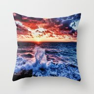 Throw Pillow featuring SuNset  by 2sweet4words Designs