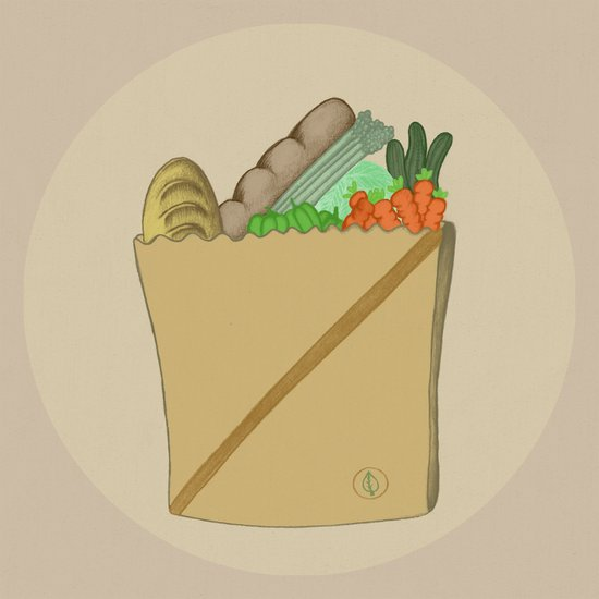 GROCERY BAG Art Print