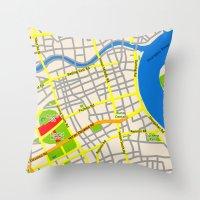 Shanghai Map Design Throw Pillow