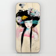 Nenufar Girl iPhone & iPod Skin