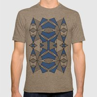 Triangle Tribal #2 Navy Mens Fitted Tee Tri-Coffee SMALL