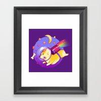 See You Space Corgi Framed Art Print