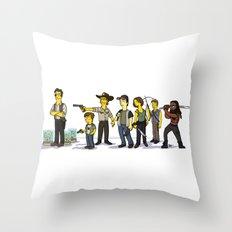 The Walking Dead cast Throw Pillow
