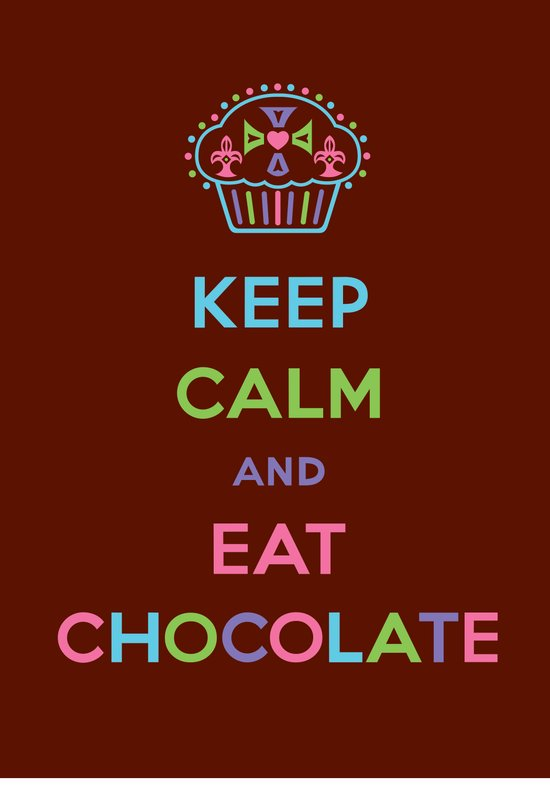 Keep Calm Eat Chocolate Canvas Print