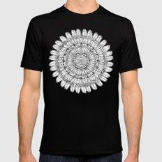 Flower Mandala Mens Fitted Tee SMALL Black