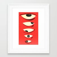 know where to look Framed Art Print