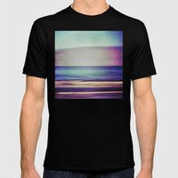 Purples And Blues Mens Fitted Tee Black SMALL