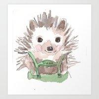 Hedgie Art Print