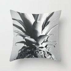 Silver Pineapple Throw Pillow