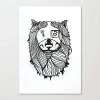 Lion 2 Sketch Canvas Print
