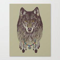 Wind Catcher Wolf Canvas Print