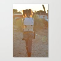 Pigtails  Canvas Print