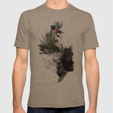 Seeded Mens Fitted Tee Tri-Coffee SMALL