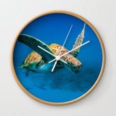 Bajan Turtle 2 Wall Clock