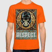 Respect Mens Fitted Tee Orange SMALL