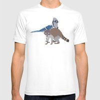 Mordecai and Rigby Mens Fitted Tee White SMALL
