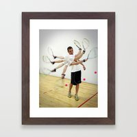 Photo Sequence-Racquetball  Framed Art Print