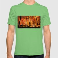 Forest fire Mens Fitted Tee Grass SMALL