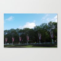 Flags On The Mall 2 Canvas Print