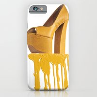iPhone & iPod Case featuring Dripping Yellow Shoe by Jackie Lalumandier