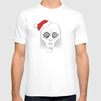 Tired Santa Mens Fitted Tee White SMALL