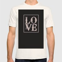All We Need is Love Mens Fitted Tee Natural SMALL