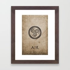 Avatar Last Airbender - Air Framed Art Print