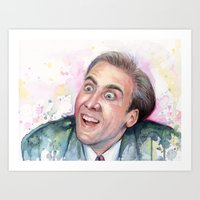 Nicolas Cage You Don't Say Art Print