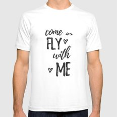 come fly with me White SMALL Mens Fitted Tee
